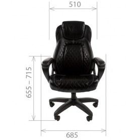 Офисное кресло CHAIRMAN 432, экокожа, цвет черный