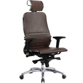 Офисное кресло Samurai K-3.03, темно-коричневый