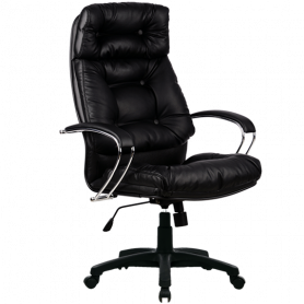Офисное кресло Lux LK-14 Pl, кожа, черный