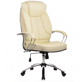 Офисное кресло Lux LK-12 Ch, кожа, бежевый