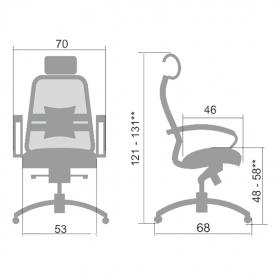 Офисное кресло Samurai SL-2.03, белый лебедь