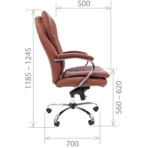 Офисное кресло CHAIRMAN 795 кожа, цвет коричневый