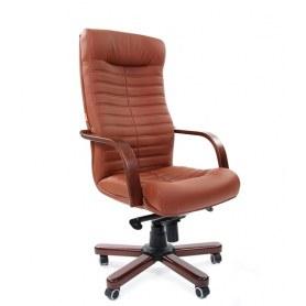 Офисное кресло CHAIRMAN 480 WD, экокожа, цвет коричневый