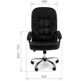 Офисное кресло CHAIRMAN 418, кожа, цвет черный