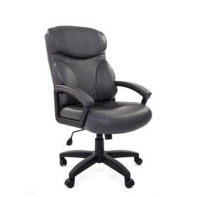 Офисное кресло CHAIRMAN 435 LT, экокожа, цвет темно серый