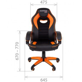 Кресло CHAIRMAN GAME 16, цвет черный / голубой