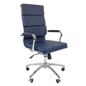 Офисное кресло CHAIRMAN 750 экокожа синяя