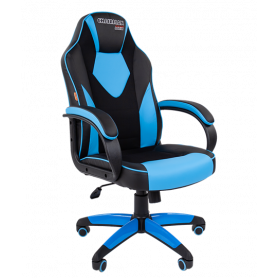 Кресло CHAIRMAN GAME 17, цвет черный / голубой