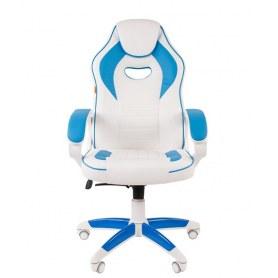 Кресло CHAIRMAN GAME 16, цвет белый / голубой