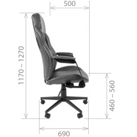 Офисное кресло CHAIRMAN 720 экокожа коричневая