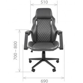 Офисное кресло CHAIRMAN 720 экокожа черная