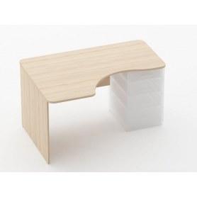 Стол угловой Glassy 1.141.14Л под встроенную тумбу цвет Туя 1400х1000(680) х751