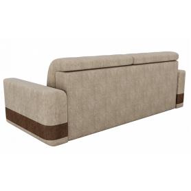 Прямой диван Честер, Бежевый/коричневый (велюр)