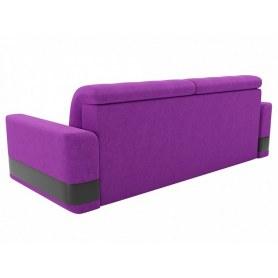 Прямой диван Честер, Фиолетовый/черный (вельвет/экокожа)