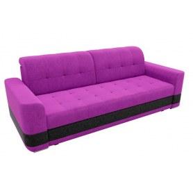 Прямой диван Честер, Фиолетовый/черный (вельвет)
