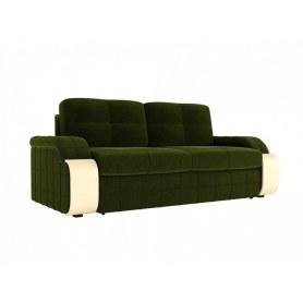 Прямой диван Николь, Зеленый (Микровельвет)