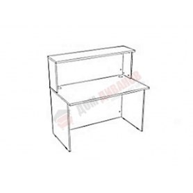 Ресепшен стол прямой Референт Р.Мп-15, бук светлый