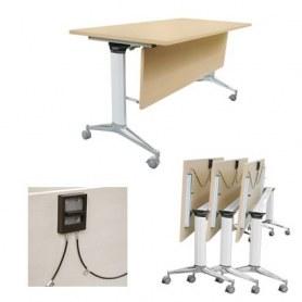 Стол трансформер TTС-180 офисный с роликами 1800x680x760