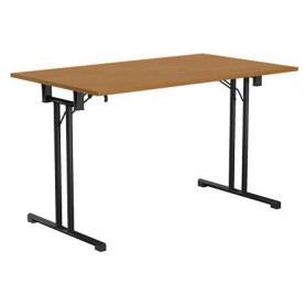 Стол складной FT120 black офисный на мет. Основе 1180x680x760