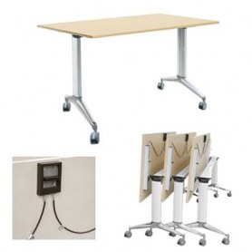 Стол трансформер TT-170 офисный с роликами 1700x680x760