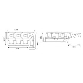 Угловой диван Твист 4 (НПБ)