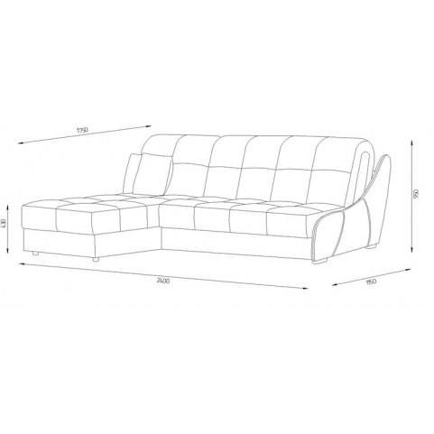 Угловой диван Токио (LUX)