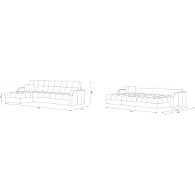 Угловой диван Женева 2 ДУ (НПБ)