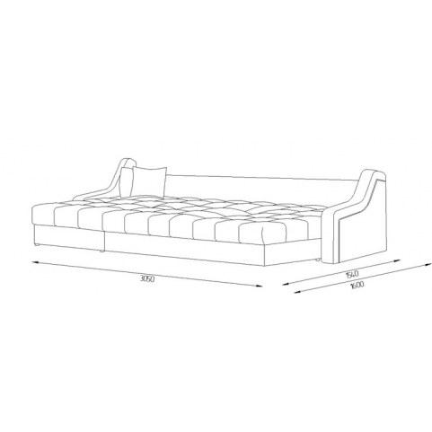 Угловой диван Женева 8 ДУ (НПБ)