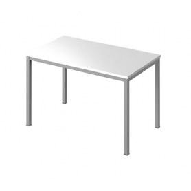 Стол письменный С-30 (Белый/каркас серый)