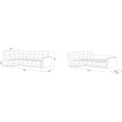 Угловой диван Аризона 4 ДУ (Боннель)