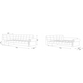 Угловой диван Аризона 5 ДУ (Боннель)