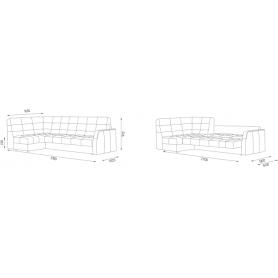 Угловой диван Аризона 2 ДУ (Боннель)