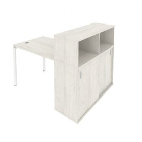 Стол письменный Б.РС-СШК-3.3 Дуб наварра/Белый