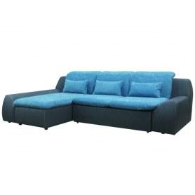 Угловой диван Стефан, левый, хоуп10 голубой/megapolis 06
