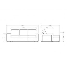 Угловой диван Феликс, Lounge 14/Season light grey/Велюр фэшн тропикал 80/2 кат