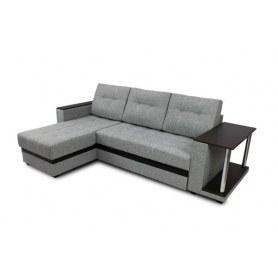 Угловой диван Атланта, цвет Поло серый / Coffee venge (ткань/кожзам)