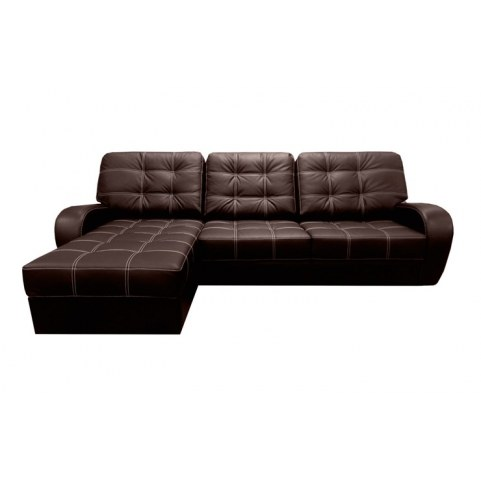 Угловой диван Монреаль, цвет Monaco Basalt (кожзам)