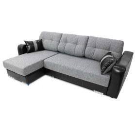 Угловой диван Хилтон, цвет Mars 24 Grey / SBD (ткань/кожзам)