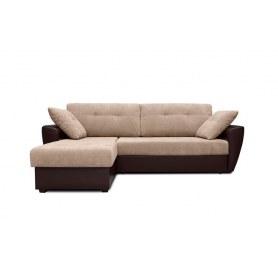 Угловой диван Амстердам, цвет Наполи / SDB (ткань/кожзам)