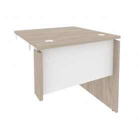 Стол-приставка O.SPR-0.8R, Дуб Аттик/Белый