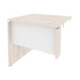 Стол-приставка O.SPR-0.7L, Денвер светлый/Белый