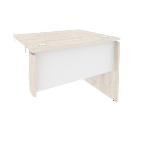 Стол-приставка O.SPR-1.8R, Денвер светлый/Белый