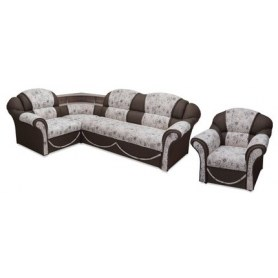 Угловой диван Соня-12 с полкой и креслом