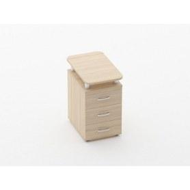 Тумба приставная на 3 ящика, с проставками Glassy 3.10.16 цвет Туя 420х680х750