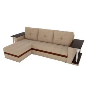 Угловой диван Атланта М 2 стола, Бежевый (рогожка)