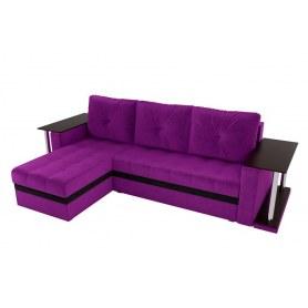 Угловой диван Атланта М 2 стола, Фиолетовый (вельвет)