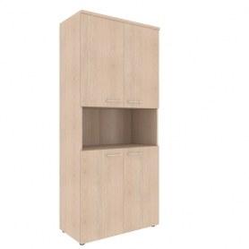 Шкаф с глухими средними дверьми и топом Xten, XHC 85.4