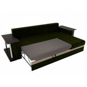 Угловой диван Атланта М 2 стола, Зеленый (вельвет)