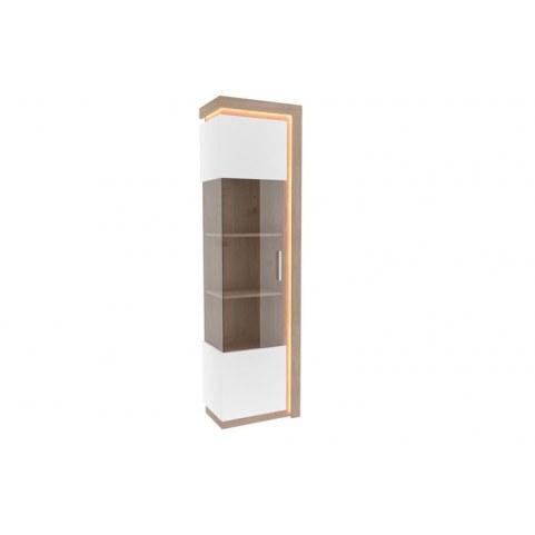 Шкаф-витрина левый Неон ЛД 667.050, белый