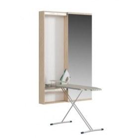 Пенал с зеркалом Светлана (СП) с зеркалом и гладильной доской, дуб сонома